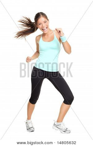 Fitness Trainer Woman Dancing