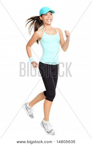Running Woman Isolated