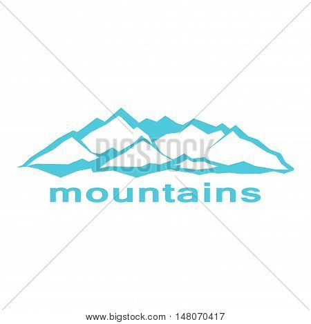 Blue mountains. A symbolic image. Series consisting of mountains