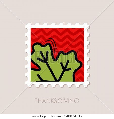 Autumn Leaves maple stamp. Harvest. Thanksgiving vector eps 10