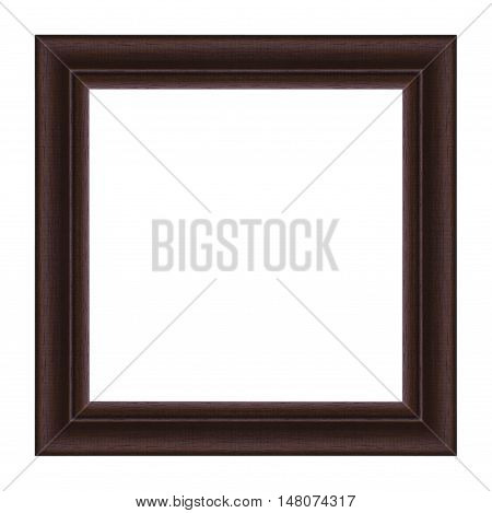 picture frame wooden carved frame pattern isolated on white background.
