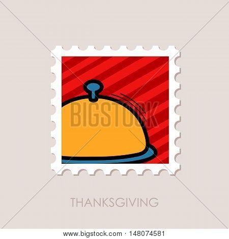 Food tray stamp. Harvest. Thanksgiving vector illustration eps 10