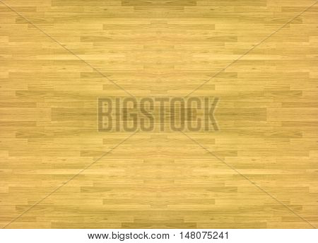 wood floors The parquet wood Hardwood maple basketball court floor viewed from above for design texture pattern and background.
