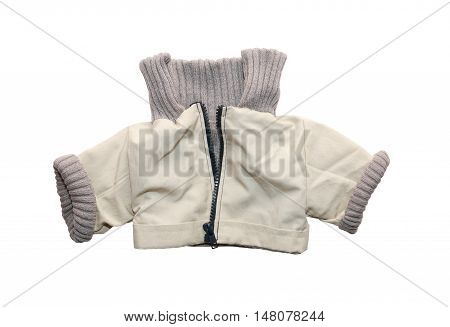 Nice baby jacket isolated on white background with clipping path