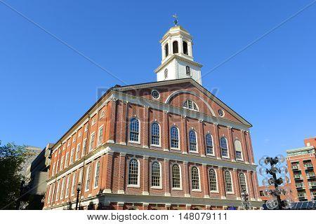 Faneuil Hall on Freedom Trail, Boston, Massachusetts, USA