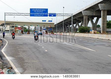 Bangkok Thailand - August 17 2016 : Si Rat - Outer ring road expressway The new expressway
