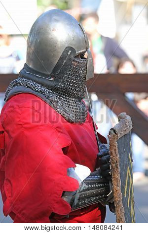 A Medieval Knight Having A Rest