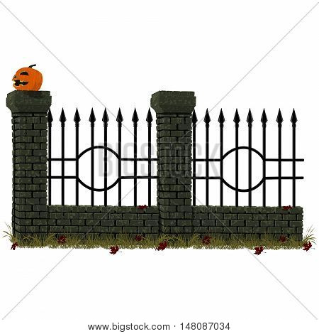 Cemetery wall pattern. For making long cemetery wall