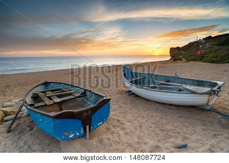 Boats At Burton Bradstock