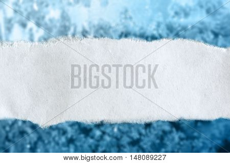 Ragged Piece Of Paper On Ice