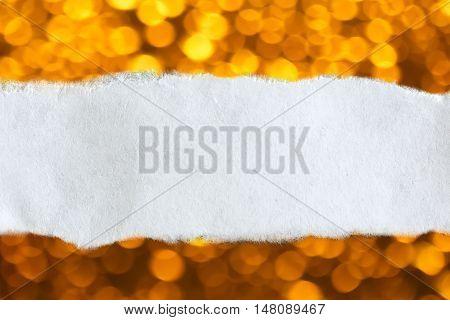 Ragged Piece Of Paper On Blur