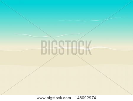 Beach background seamless top view vector illustration, sea coast and beach sand backdrop