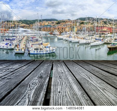 Rostrum To The Sea View Of Genoa