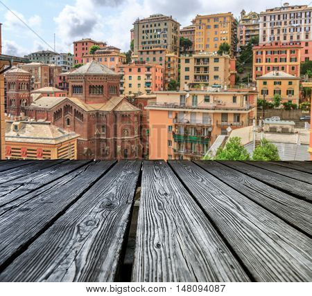 Rostrum To The Old City Of Genoa