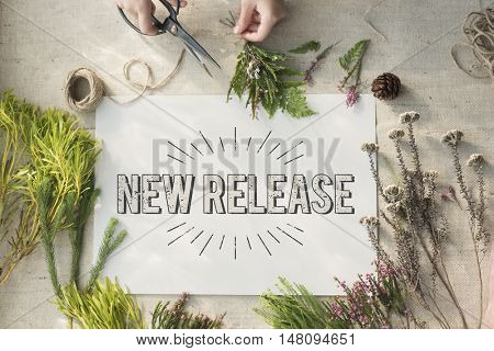 New Release Latest Brand Update Concept