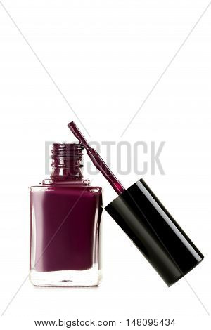 Bottle Of Nail Polish Isolated On A White