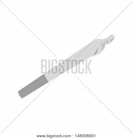 Marijuana joint icon in flat style on a white background vector illustration