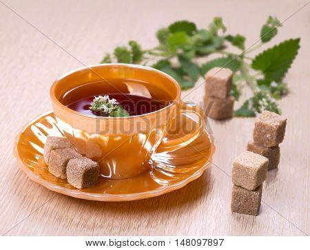 Tea With Pieces Of Sugar