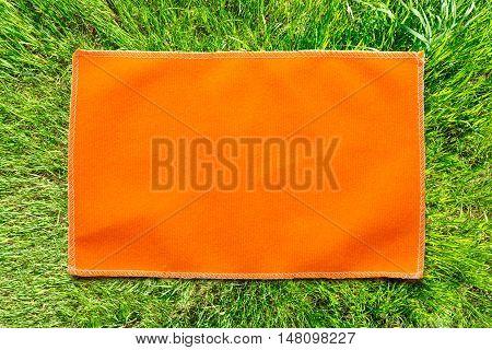 Orange Microfiber Cloth For Glasses