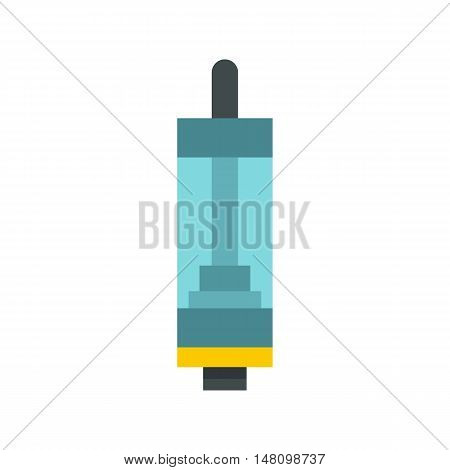 Electronic cigarette cartridge icon in flat style on a white background vector illustration