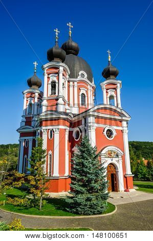Main church in Curchi Orthodox Christian Monastery, Moldova