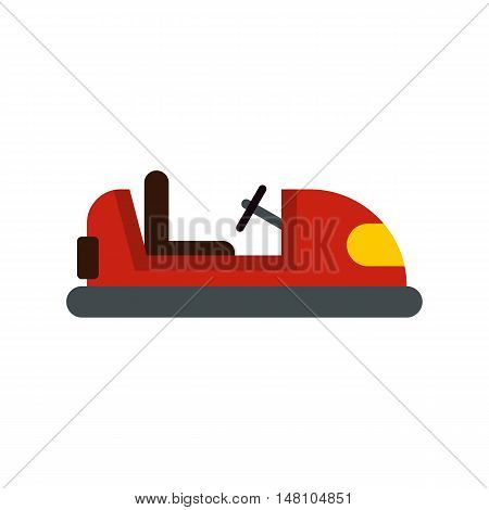 Red bumper car icon in flat style on a white background vector illustration