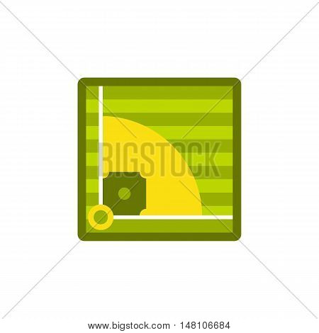 Baseball field icon in flat style on a white background vector illustration