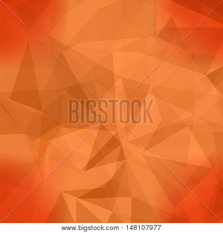 Orange Light Polygonal Mosaic Background.  Business Design Templates. Triangular Geometric Pattern