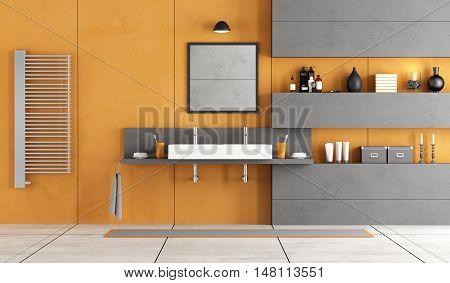 Contemporary Bathroom With Washbasin