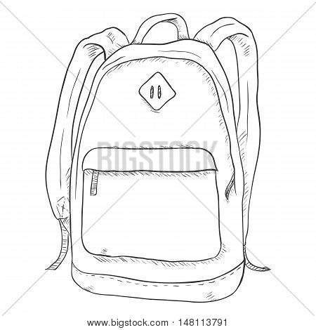 Vector Single Sketch Casual Backpack.