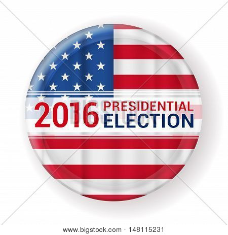 2016 presidential election badge sign. vector illustration