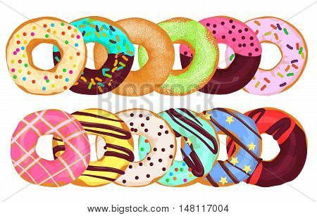 Doughnuts donut cake together. Pastry donuts menu
