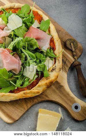 Rustic Parma Ham Pizza
