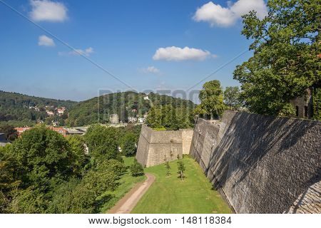 Fortified Wall Of The Sparrenburg Castle In Bielefeld