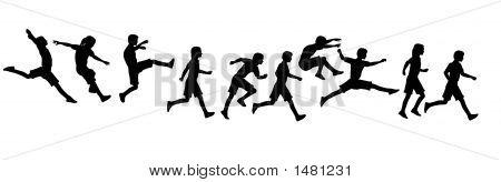 Jumping Running Children