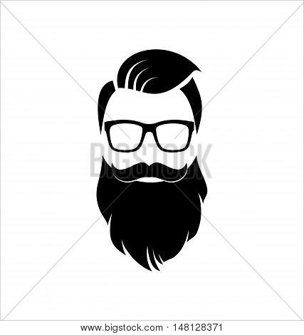 Hipster. Black and White. Lifestyle. Man with Beard.