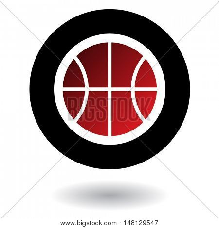 Red basketball isolated on white