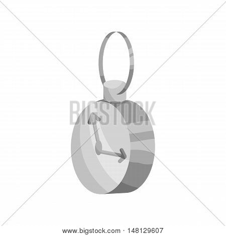 Stopwatch icon in black monochrome style isolated on white background vector illustration