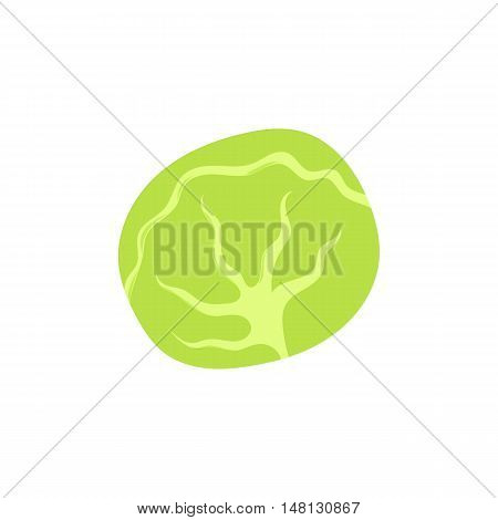 Cabbage icon in cartoon style isolated on white background vector illustration