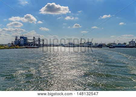 The Port of Caucasus a view from the Kerch Strait