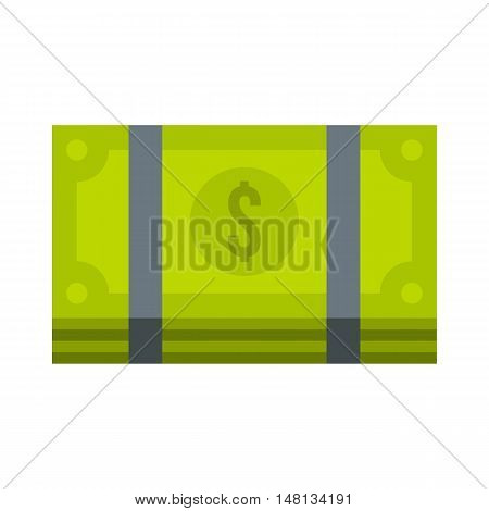 Bundle of money icon in flat style isolated on white background. Cash symbol vector illustration