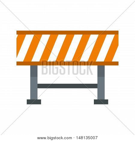 Prohibitory road sign icon in flat style isolated on white background. Construction symbol vector illustration