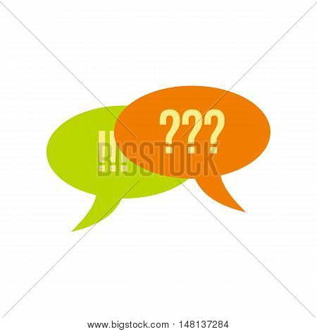 Bubble speech icon in flat style isolated on white background. Conversation symbol vector illustration