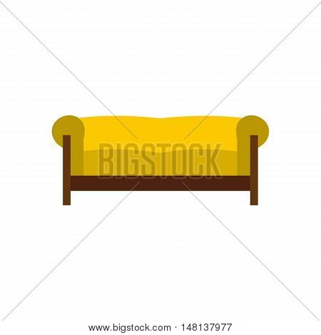 Sofa icon in flat style isolated on white background. Furniture symbol vector illustration
