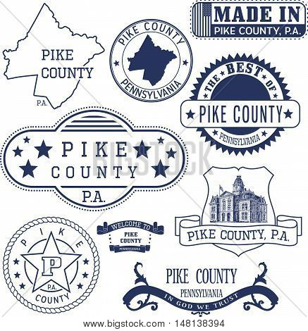 Pike County, Pa, Generic Stamps And Signs