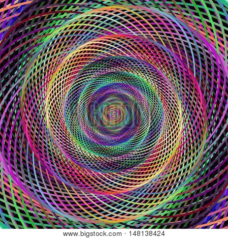 Multicolored computer generated spiral fractal background design