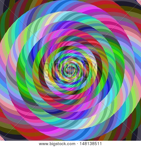 Abstract computer generated spiral fractal design background