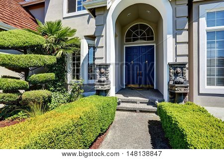 Arched Entrance Porch Of Luxury House