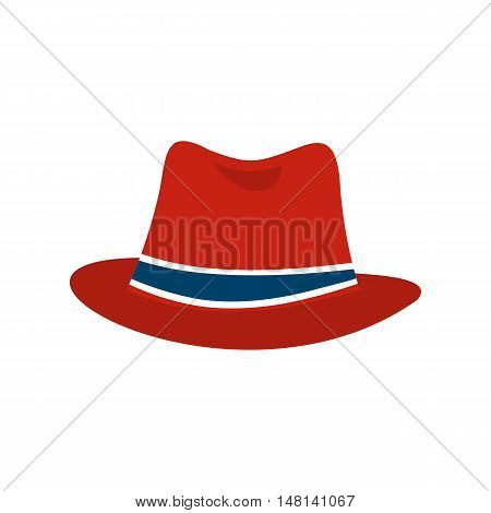 Hat icon in flat style isolated on white background. Headdress symbol vector illustration