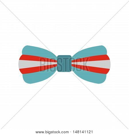 Butterfly tie icon in flat style isolated on white background. Accessory symbol vector illustration